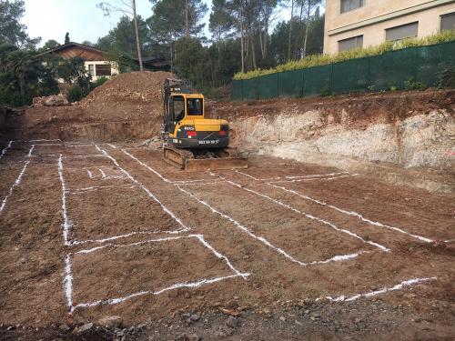 Excavación cimentación vivienda