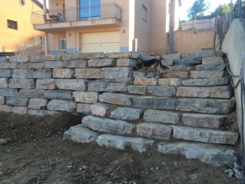 Muro piedra natural